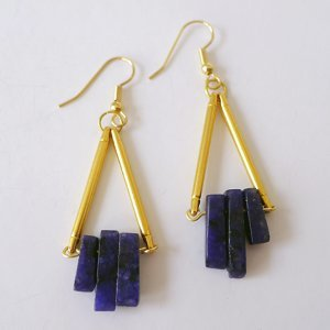 Trapeze Lapis Earrings