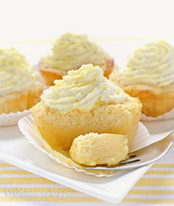 Lemon Magic Cupcakes