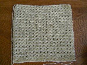 Simple Waffle Knit Blanket AllFreeKnitting.com