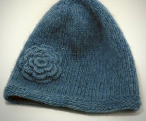 Blue Ice Flower Hat