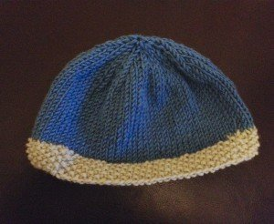 Basic Ribbed Baby Hat AllFreeKnitting.com