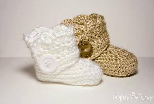 crochet baby ugg boots free pattern