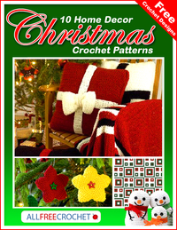 Free Crochet Designs: 10 Home Decor Christmas Crochet Patterns Read more at http://www.allfreecrochet.com/Christmas-Crochet/Free-Crochet-Designs-10-Home-Decor-Christmas-Crochet-Patterns-eBook#DFT1JQlAcYIMqgDb.99