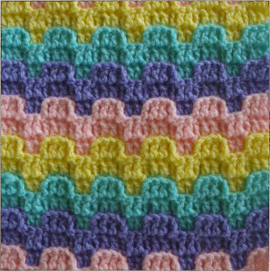 Crochet Stitches Patterns : Bargello Crochet Stitch Pattern AllFreeCrochetAfghanPatterns.com