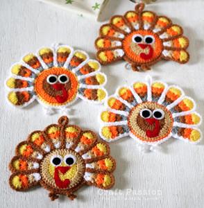 Crochet Turkey Coaster