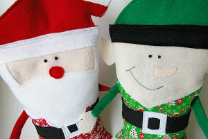 Snuggly Christmas Character Rice Bags Allfreesewing Com