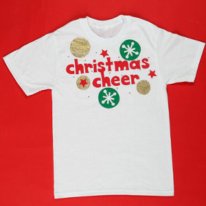 Painted Christmas Cheer Shirt Allfreechristmascrafts Com