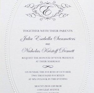 image regarding Free Monogram Printable named Monogram Marriage Invitation Printable