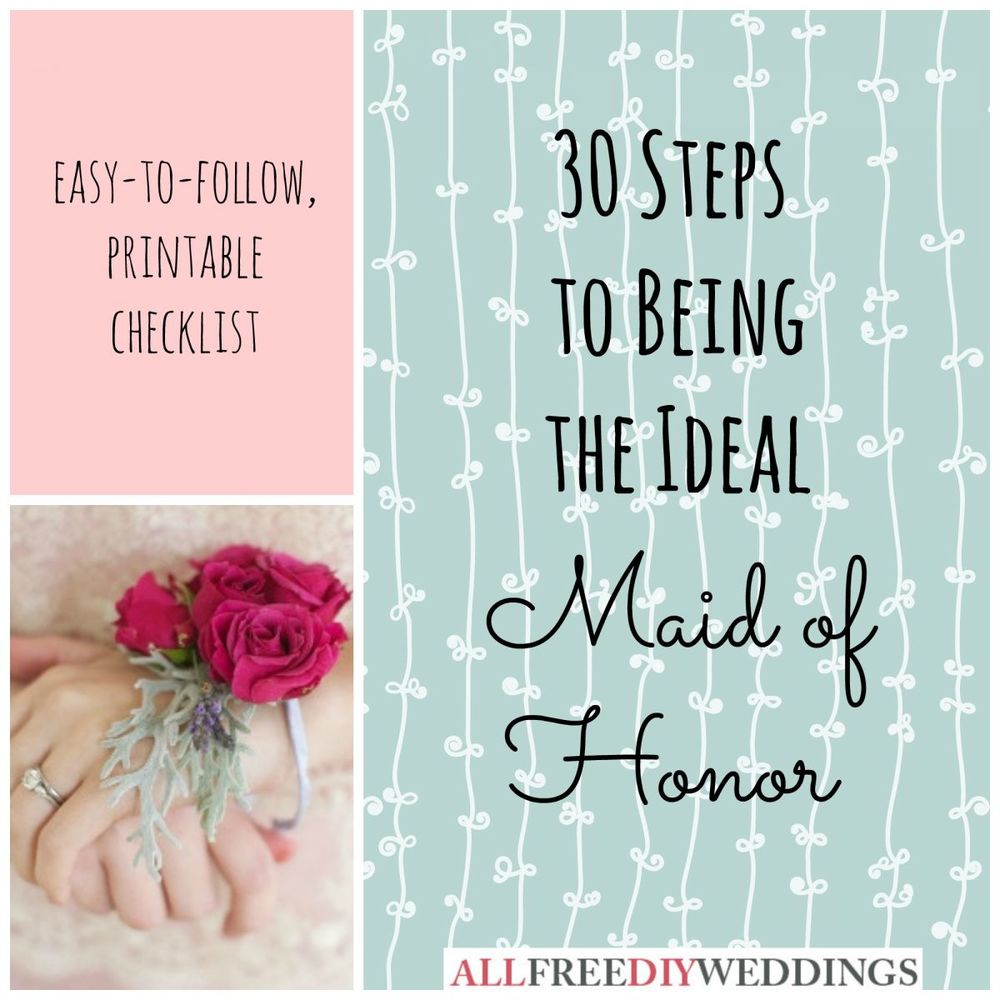 photograph regarding Maid of Honor Printable Planner titled Maid of Honor Obligations