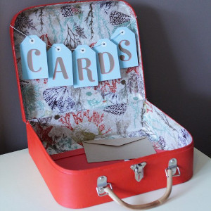 Charming Suitcase Card Box