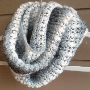 Lace And Mohair Infinity Scarf Allfreeknitting Com
