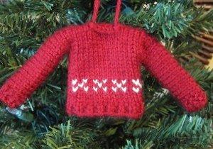 Tiny Sweater Ornament Allfreeknitting Com