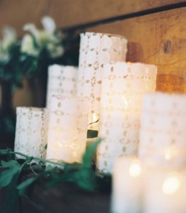 Lovely Eyelet DIY Candle Holders
