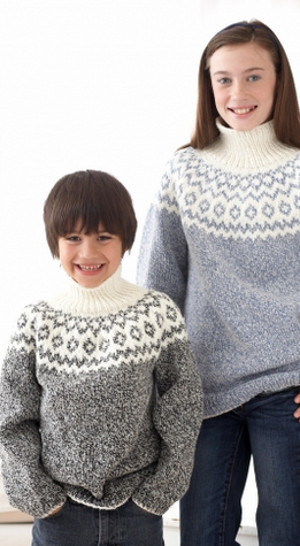 Kids Classic Fair Isle Sweater AllFreeKnitting.com