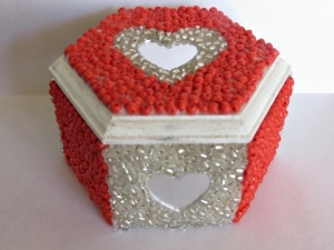 Beaded Heart Box