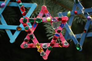 Craft Stick Star Ornaments