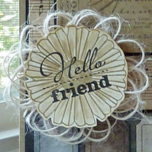 Hello Friend Twine Bow Embellishment