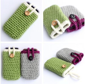 Crocheted iPhone Cozy