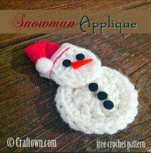Easy Crochet Snowman Applique