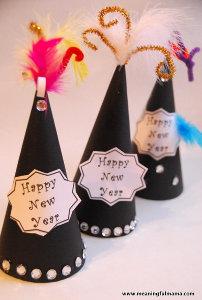 Glitzy Party Hats Allfreekidscrafts Com