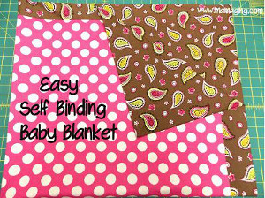 Easy Self Binding Baby Blanket Allfreesewing Com