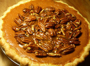 Bourbon Pumpkin Pecan Pie | FaveSouthernRecipes.com