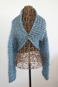 Blue Willow Crochet Shrug