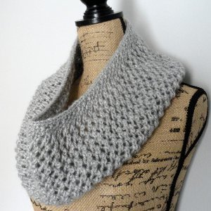 Lace and Mohair Infinity Scarf AllFreeKnitting.com