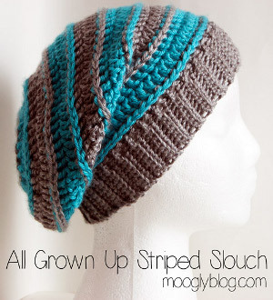 All Grown Up Striped Slouchy Hat  f8fe1e57591