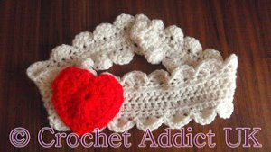 Crocheted Heart Headband