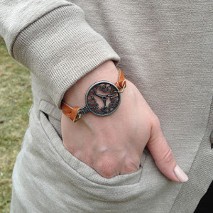 Charming DIY Leather Bracelet