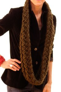 Knitting Pattern Infinity Scarf Straight Needles : Up North Infinity Scarf AllFreeKnitting.com