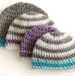 Crochet beanies are a classic crafter s project. This Striped Easy Beanie  Crochet Pattern is simple and quick. Worked up in two to three colors a0894f8630a