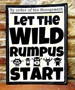 photo about Let the Wild Rumpus Start Printable identify Playful Printable Posters for Little ones