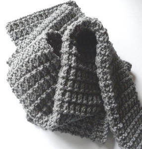 Pattern For Baby Booties Knitted : The Perfect Mens Scarf AllFreeKnitting.com