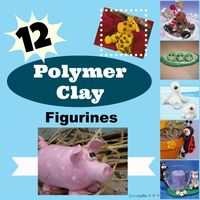 12 Polymer Clay Figures