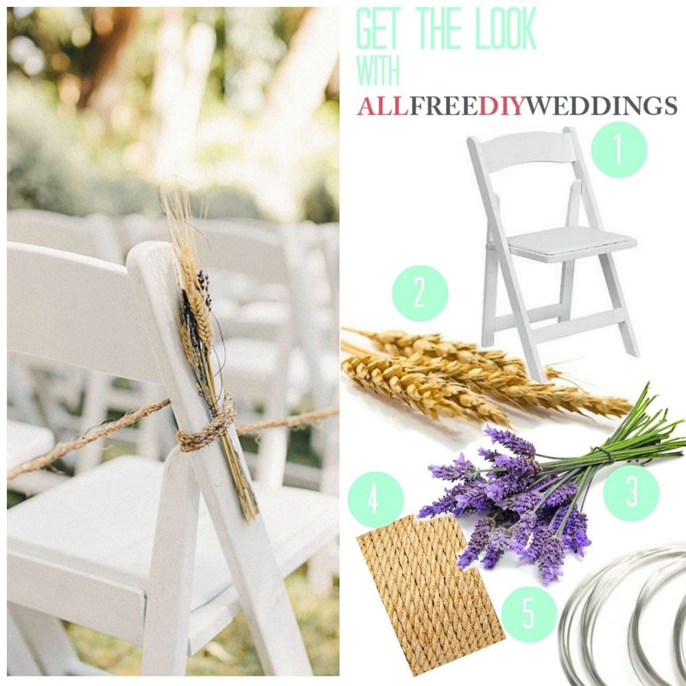 Wedding Aisle Decoration Ideas: Lavender And Wheat Wedding Aisle Decorations