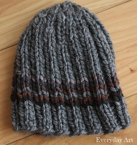 3fb3b296428 The Charlie Brown Knit Hat is perfect for men. This is an easy go-to hat  because of its simple and quick hat pattern. The popular chevron design is  added ...