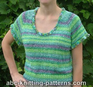 Summer Sweater Knitting Patterns : Summer Knit Sweater AllFreeKnitting.com