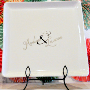 Sinfully Simple Plate Guestbook
