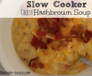 Slow Cooker Cheesy Hash Brown Soup