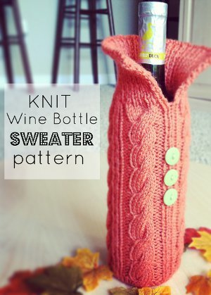 Knit Wine Bottle Sweater Pattern Allfreeknitting Com
