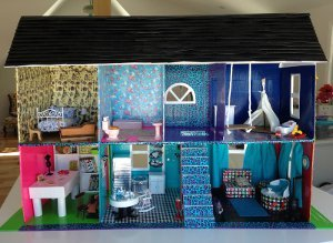 Funky Diy Doll House From Duct Tape Favecrafts Com