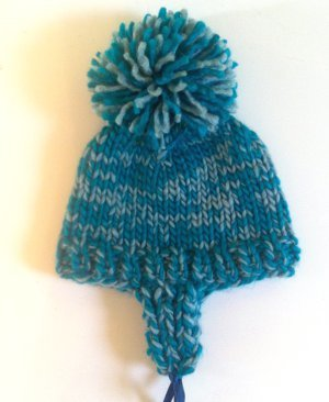 Earflap Hat Knitting Pattern Bulky Yarn : Winter Warrior Earflap Hat AllFreeKnitting.com
