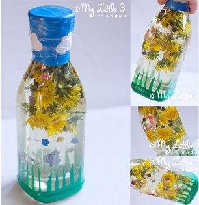 Spring Flower Sensory Bottle Allfreekidscrafts Com