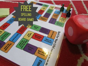 photo regarding Printable Spelling Games named Spell for Your Everyday living Printable Board Video game