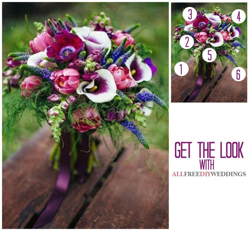 Making Your Own Wedding Flowers: Purple Wedding Flowers DIY Bouquet