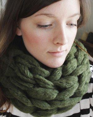 15 Minute Arm Knit Infinity Scarf Allfreeknitting Com