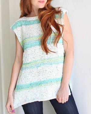 Knitting Patterns Summer Tops : Sleeveless Summer Top AllFreeKnitting.com