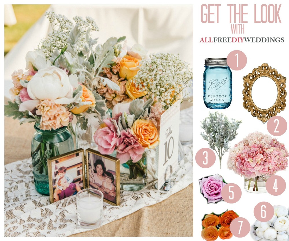 Free Wedding Ideas: Grandma's Favorite Vintage Wedding Centerpiece
